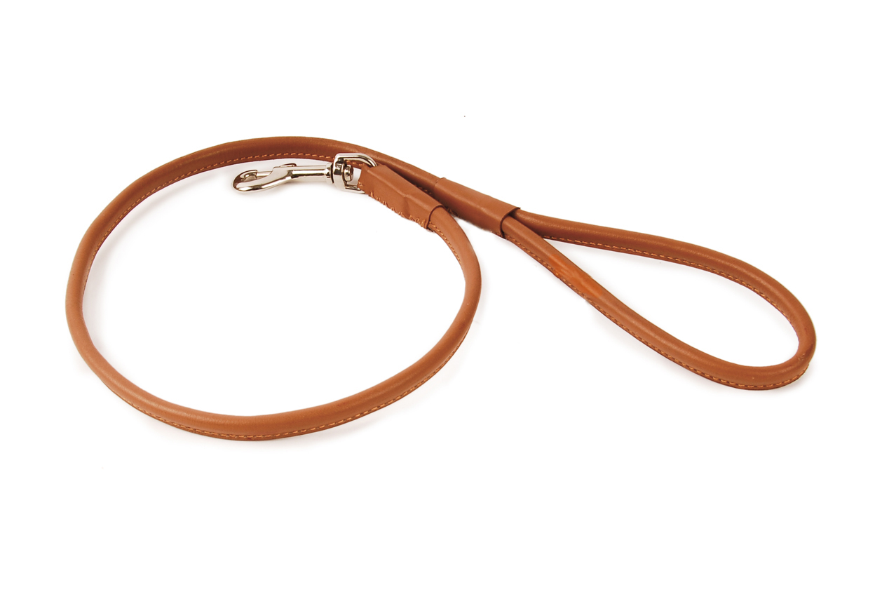 Rolled Leather Collars For  Pound Dog